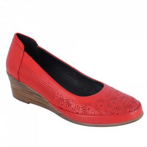 Pantofi din piele naturală cod 0634 Red