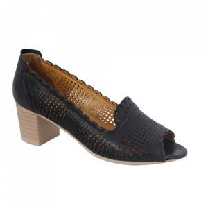 Pantofi din piele naturală cod 1071 Black