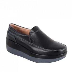 Pantofi din piele naturală cod 1158 Black
