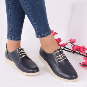 Pantofi din piele naturală cod 119422 Bleumarin - Pantofii îți transformă limbajul corpului și atitudinea. Te înalță fizic și psihic! Pantofi pentru dame din piele naturală - Deppo.ro
