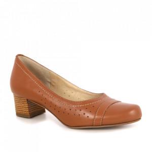 Pantofi din piele naturală cod 122/4 Bej