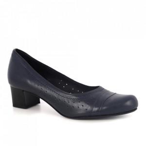 Pantofi din piele naturală cod 122/4 Blue