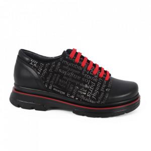 Pantofi din piele naturală cod 14235 N-S