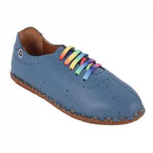 Pantofi din piele naturală cod 2000 Blue