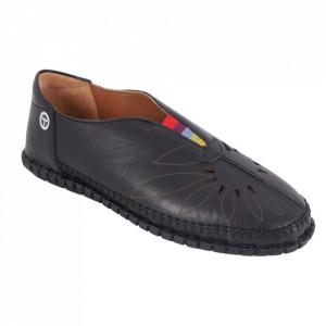 Pantofi din piele naturală Cod 204 Black