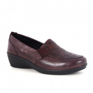 Pantofi din piele naturală cod 32-SP Bordo