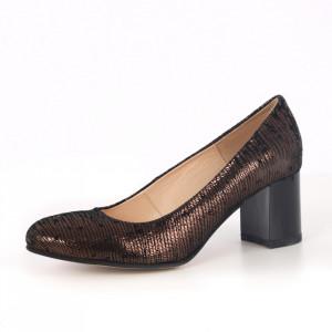 Pantofi din piele naturală cod 63317 Glitter
