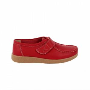 Pantofi din piele naturală cod 8518 Roși - Pantofi pentru dame din piele naturală cu talpă flexibilă - Deppo.ro