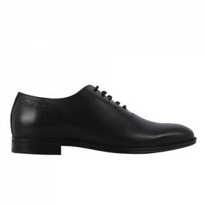 Pantofi din piele naturală cod 911 Negru