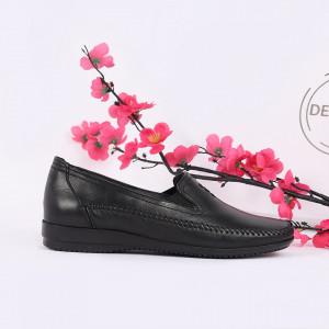 Pantofi din piele naturală negri cod Z8121 - Pantofii îți transformă limbajul corpului și atitudinea. Te înalță fizic și psihic! Pantofi pentru dame din piele naturală - Deppo.ro