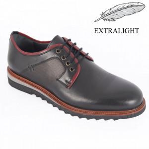 Pantofi din piele naturală pentru bărbați cod 10255 Siyah