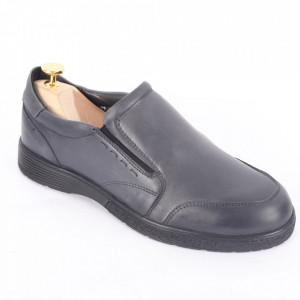 Pantofi din piele naturală pentru bărbați cod 182-1 Gri