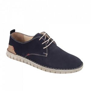 Pantofi din piele naturală pentru bărbați cod 21911 Lacivert Nbk