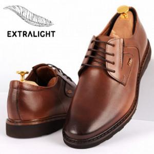 Pantofi din piele naturală pentru bărbați cod 2744 Maro