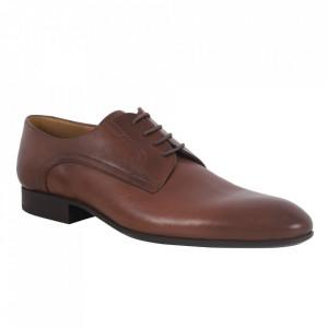 Pantofi din piele naturală pentru bărbați cod 2784 Maro