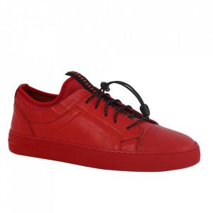 Pantofi din piele naturală pentru bărbați cod 321 Red