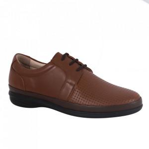 Pantofi din piele naturală pentru bărbați cod 3500-2 Taba
