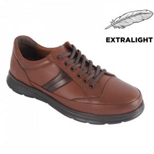 Pantofi din piele naturală pentru bărbați cod 4205 Tan