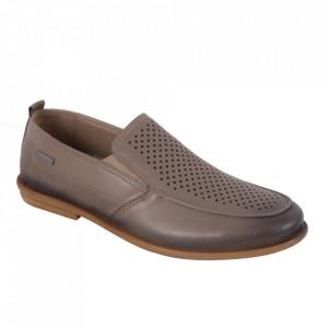 Pantofi din piele naturală pentru bărbați cod 542-1 Vizon