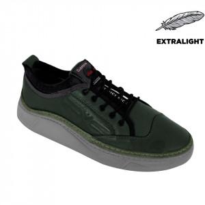 Pantofi din piele naturală pentru bărbați cod 9202 Yesil