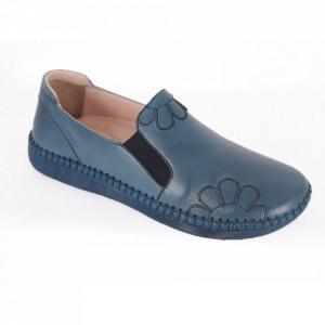 Pantofi din piele naturală pentru dame cod 2010 Mavi