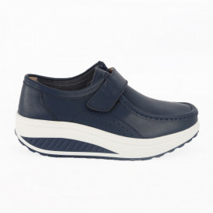 Pantofi din piele naturală pentru dame cod A333 Navy