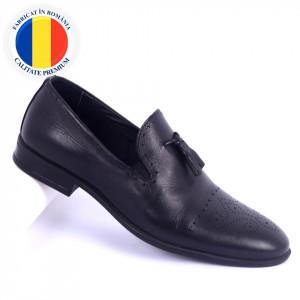 Pantofi din piele naturală Tristan Black