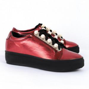 Pantofi pentru dame Cod A19-9 Visini - Pantofii îți transformă limbajul corpului și atitudinea. Te înalță fizic și psihic! Pantofi pentru dame din piele ecologică lăcuită - Deppo.ro