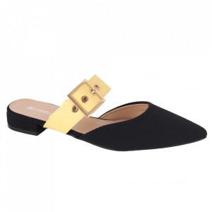 Pantofi pentru dame cod LU0040 BLACK/YELLOW
