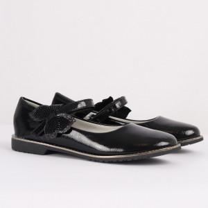 Pantofi pentru fete cod 1915 Negri - Pantofi pentru fete cu un design lejer ceea ce ii face foarte comozi la purtare - Deppo.ro
