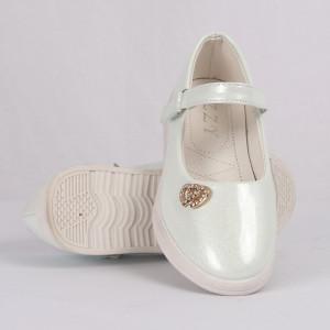 Pantofi pentru fete cod CP66 Albi