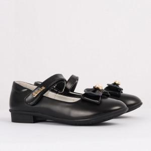 Pantofi pentru fete cod CP68 Negri - Pantofi pentru fete cu un design lejer ceea ce ii face foarte comozi la purtare - Deppo.ro