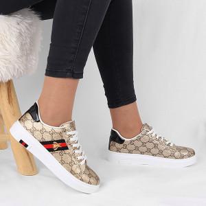Pantofi sport cod 4774 Maro - Pantofi sport marpo din material textil cu talpă albă si un calapod comod - Deppo.ro