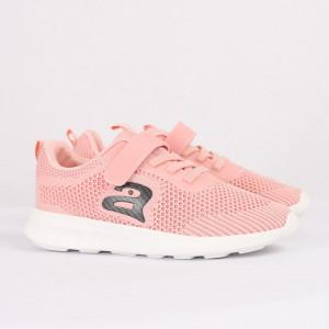 Pantofi sport cod CC211 Roz - Pantofi sport din material textil cu talpă din spumă și închidere cu scai - Deppo.ro