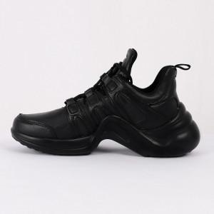 Pantofi Sport cod VENUS00005 Negri - Pantofi sport din piele ecologică întoarsă  Închidere prin șiret  Foarte comfortabili - Deppo.ro