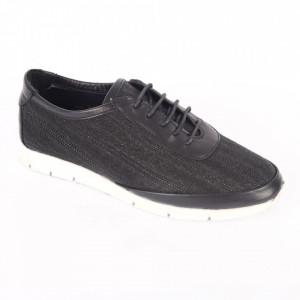 Pantofi sport din piele naturală pentru dame cod 231 Negru