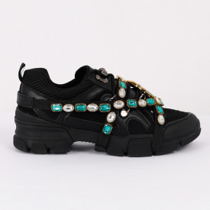 Pantofi Sport Judith Cod 447 - Pantofi sport din piele ecologică întoarsăși pânză  Model deosebit cu ștrasuri  Foarte comfortabili - Deppo.ro