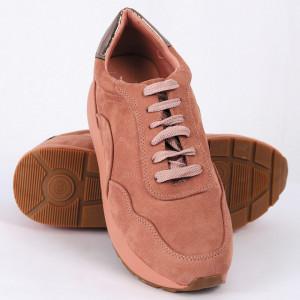 Pantofi Sport Leah Cod 460 - Pantofi sport din piele ecologică întoarsă  Închidere prin șiret  Foarte comfortabili - Deppo.ro