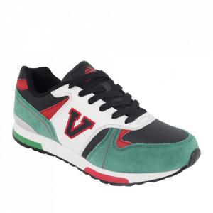 Pantofi sport pentru bărbați cod 1458E Black/Green