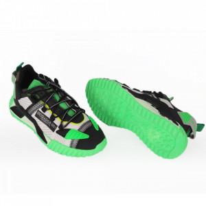 Pantofi Sport pentru bărbați cod A58-1 Green - Pantofi sport pentru bărbați foarte comozi, ideali pentru ieșiri si practicarea exercitiilor în aer liber - Deppo.ro