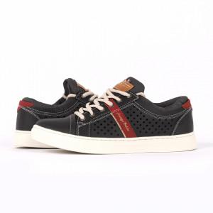 Pantofi Sport pentru bărbați cod A9014-4 Negri - Pantofi sport pentru bărbaţi, model cu un design deosebit ideali pentru o ținută sport casual - Deppo.ro