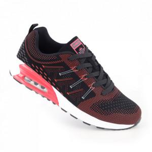Pantofi sport pentru bărbați cod ARD17151-21 Black/Red