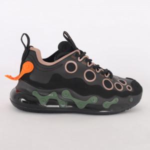 Pantofi Sport pentru bărbați cod H19 Black/Orange