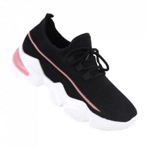 Pantofi sport pentru dame cod 86001 Black/Pink