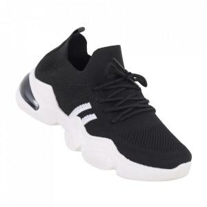 Pantofi sport pentru dame cod 86002 Black/White