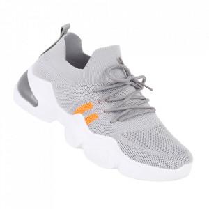 Pantofi sport pentru dame cod 86002 Grey/Orange