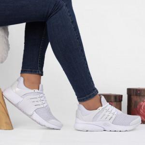 Pantofi sport pentru dame Cod A68-5 White