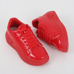 Pantofi Sport pentru dame cod LLS-044 Red - Pantofi sport pentru dame  Foarte comozi  Închidere prin șiret  Ideali pentru ieșiri și practicarea exercițiilor în aer liber - Deppo.ro