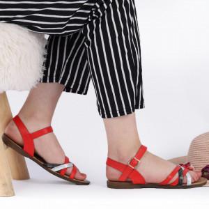 Sandale cu talpă joasă cod 104 Red