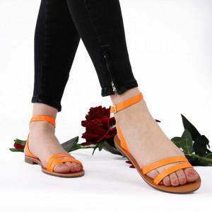 Sandale cu talpă joasă cod M35 Orange